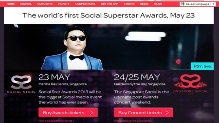 Official Shortlist For The Social Star Awards 2013, MBS Singapore