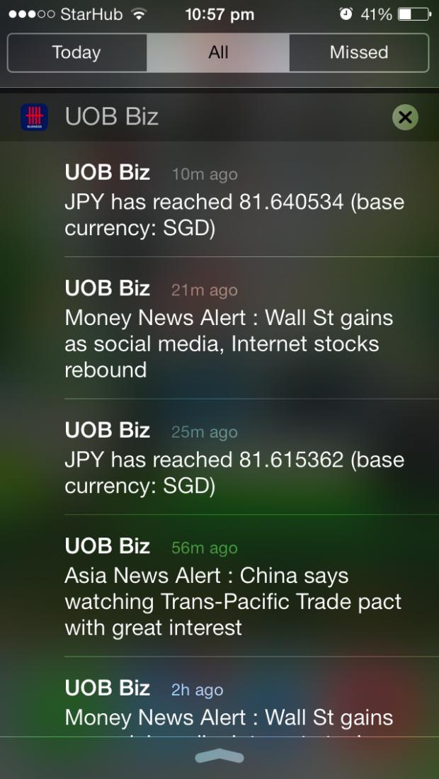 UOB Business App Alert - AspirantSG