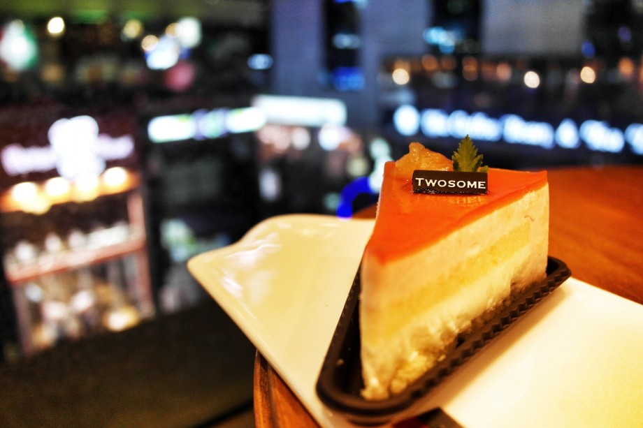 Grapefruit Cheese Cake A Twosome Place Seoul Korea - AspirantSG