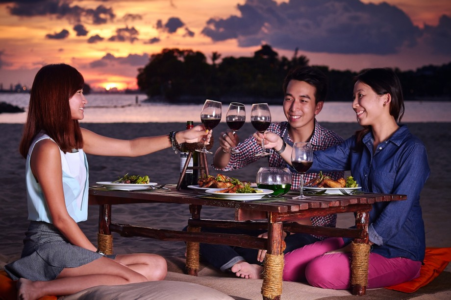 BBQ by the Beach At Sentosa.