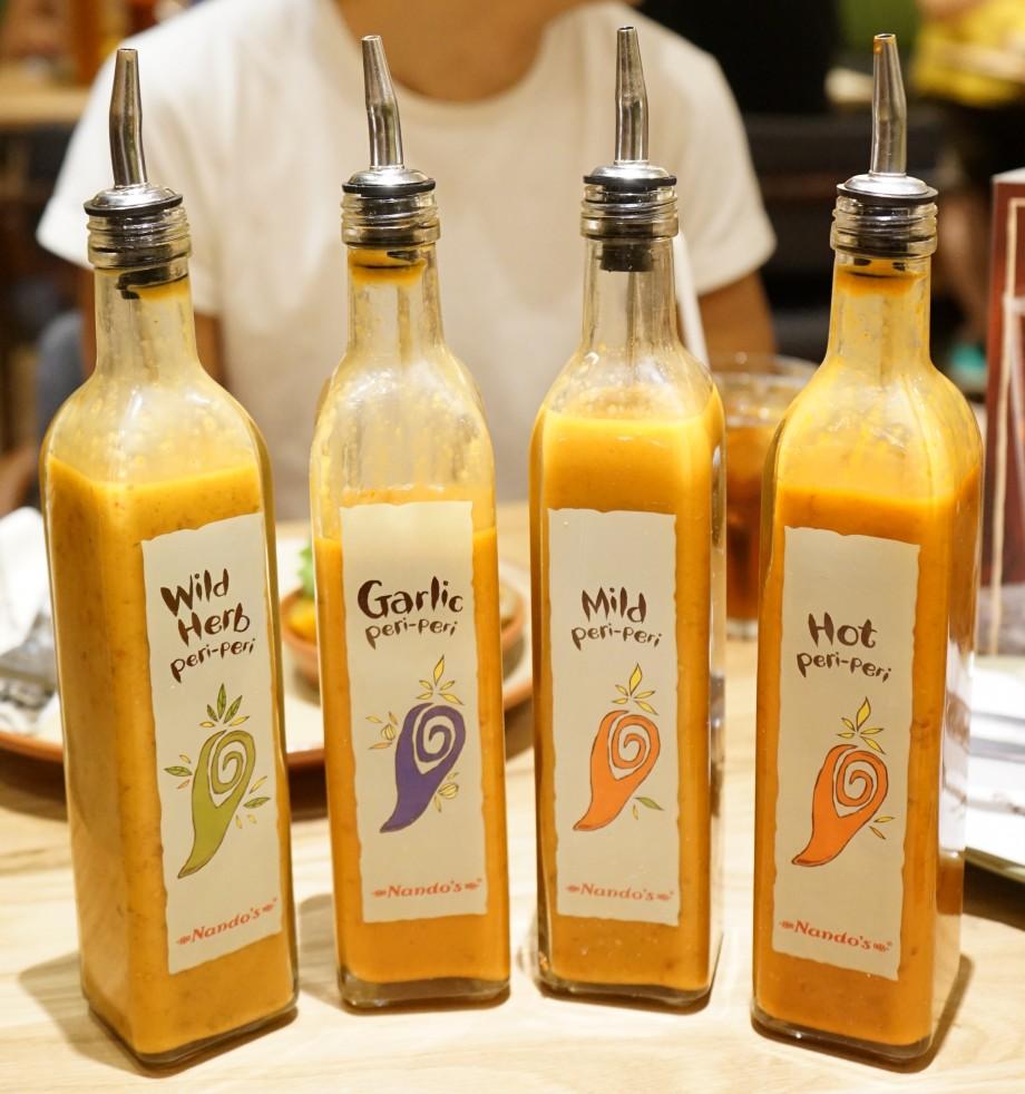 Nando's Famous Peri-peri Sauces - AspirantSG