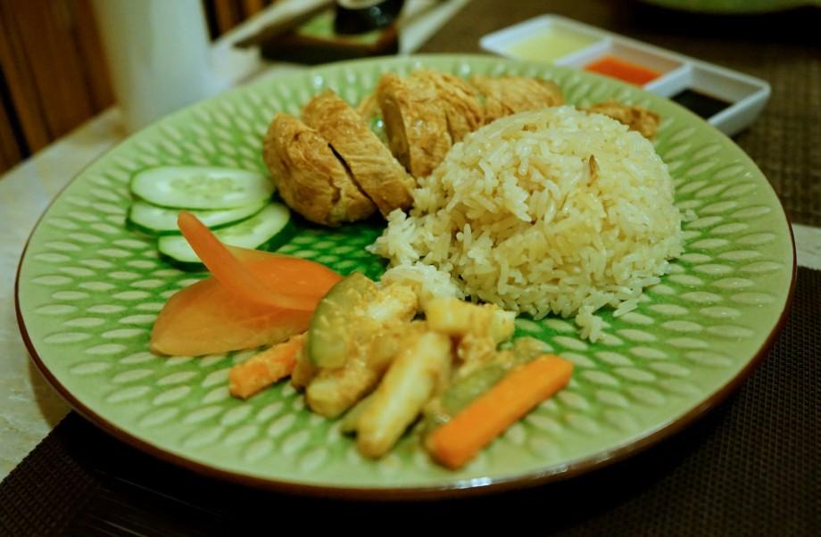 Vegetarian Chicken Rice Honzen - AspirantSG