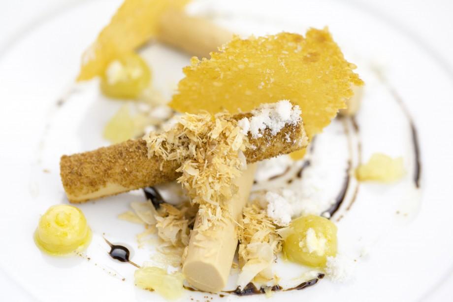 Foie Gras Semifreddo, Lemon Curd, Hazelnut, Coffee - AspirantSG