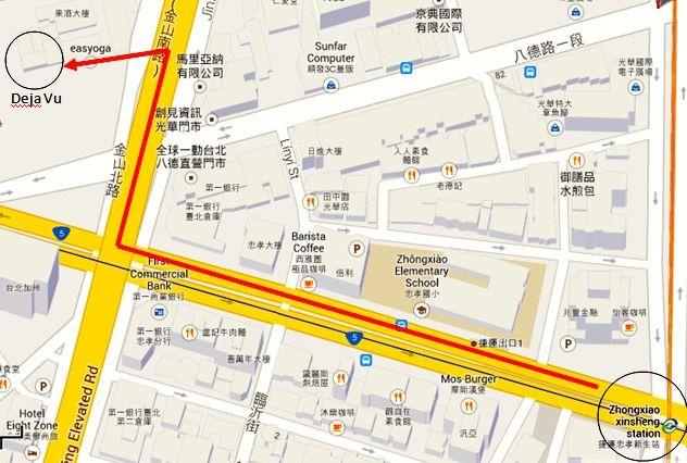 Map To Deja Vu Restaurant - AspirantSG