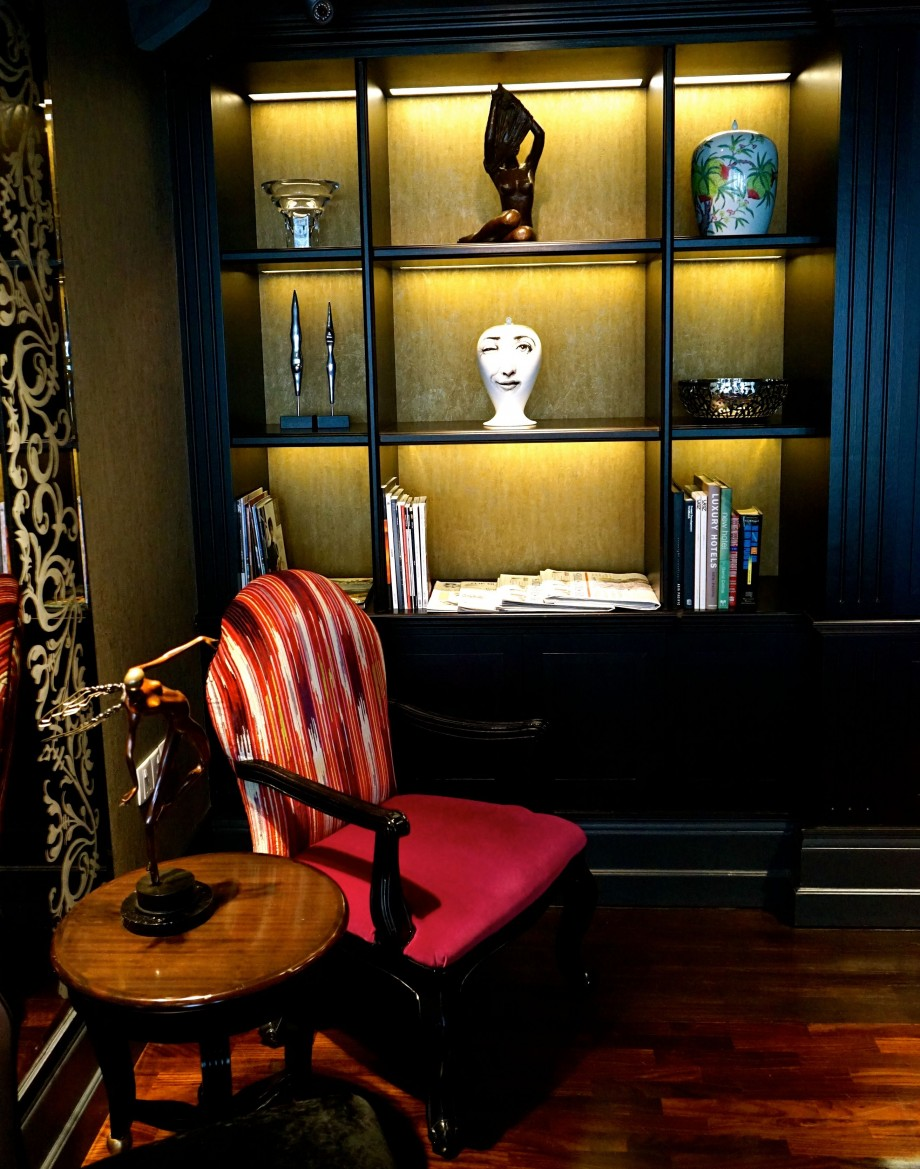 Chair By Bookshelf The Scarlet Singapore