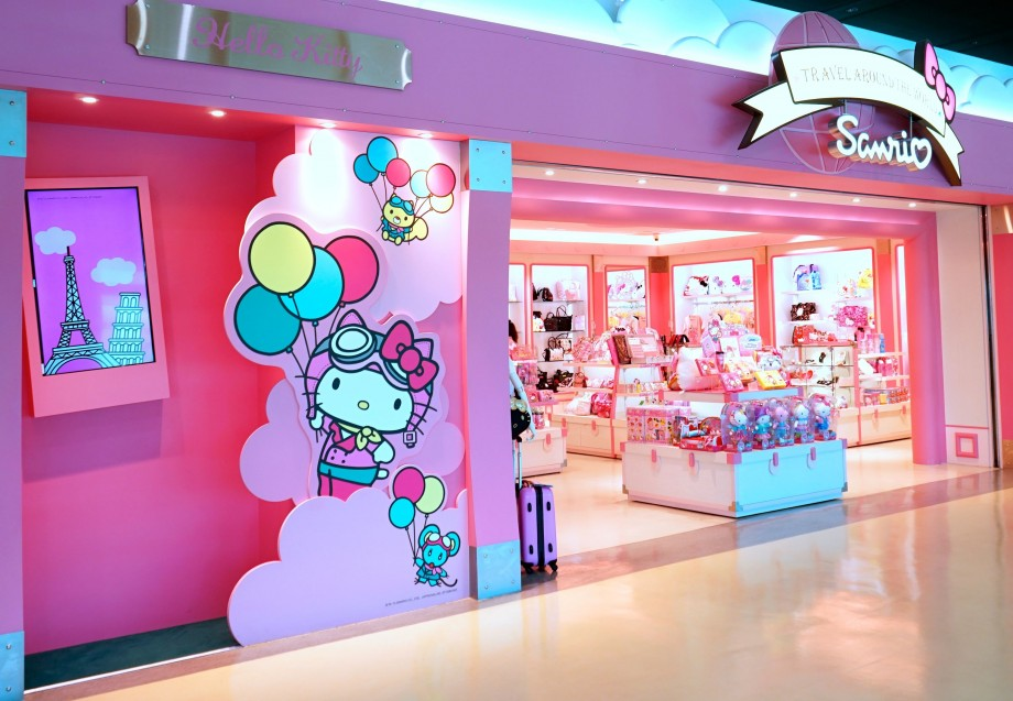 EVA Air Hello Kitty Shop At Boarding Gate - AspirantSG
