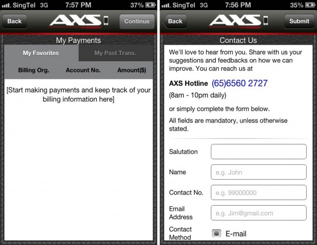 AXS m-Station Payment Help
