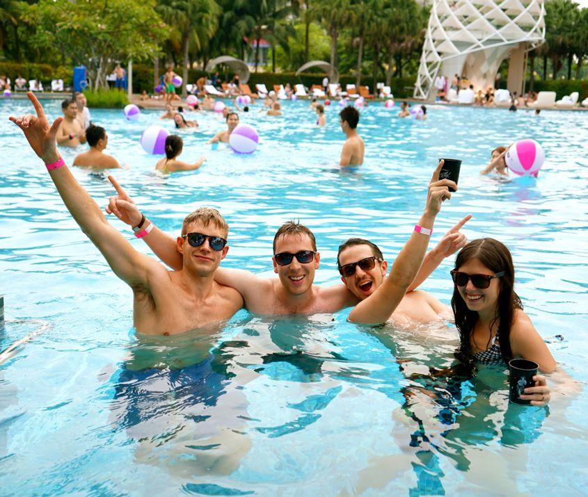 #GET2GETHER At W Hotel Singapore's Coolest Poolside Party - AspirantSG