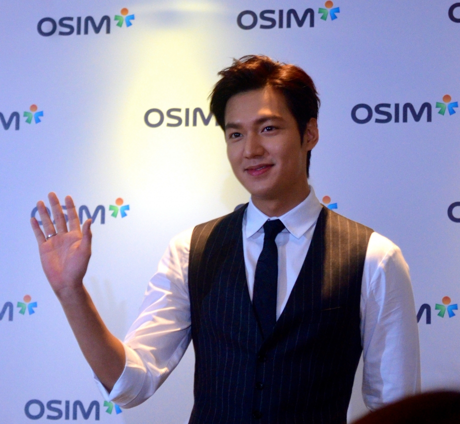 Lee Min Ho At OSIM 35th Anniversary Press Conference In Singapore