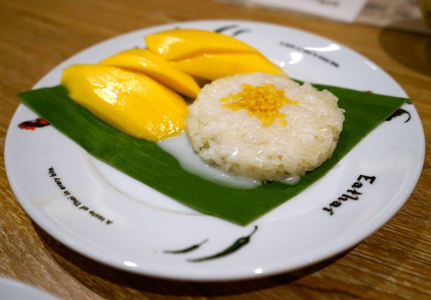 Mango Sticky Rice Dry At Eathai Central Embassy - AspirantSG