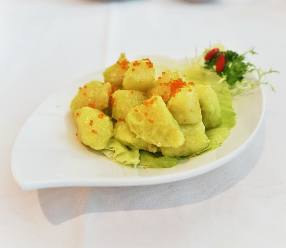 Deep-fried Fillet Of Sea Perch with Wasabi Salad Cream The Cathay - AspirantSG