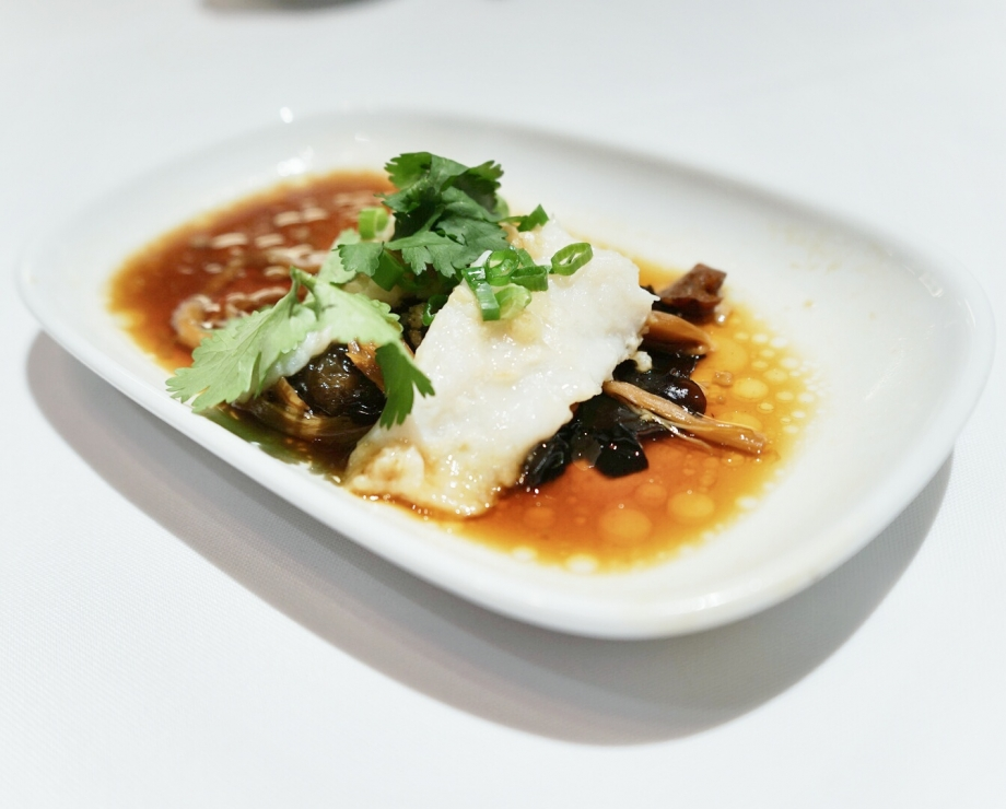 Steamed Fillet Of Snapper With Black Fungus and Lily Bud - AspirantSG