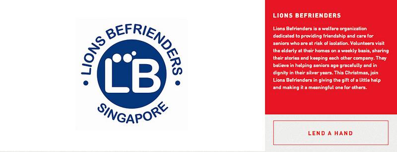 Lion Befrienders Singtel Little Helpers - AspirantSG
