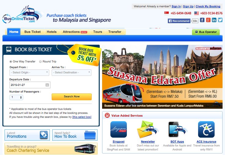 BusOnlineTicket Website - AspirantSG