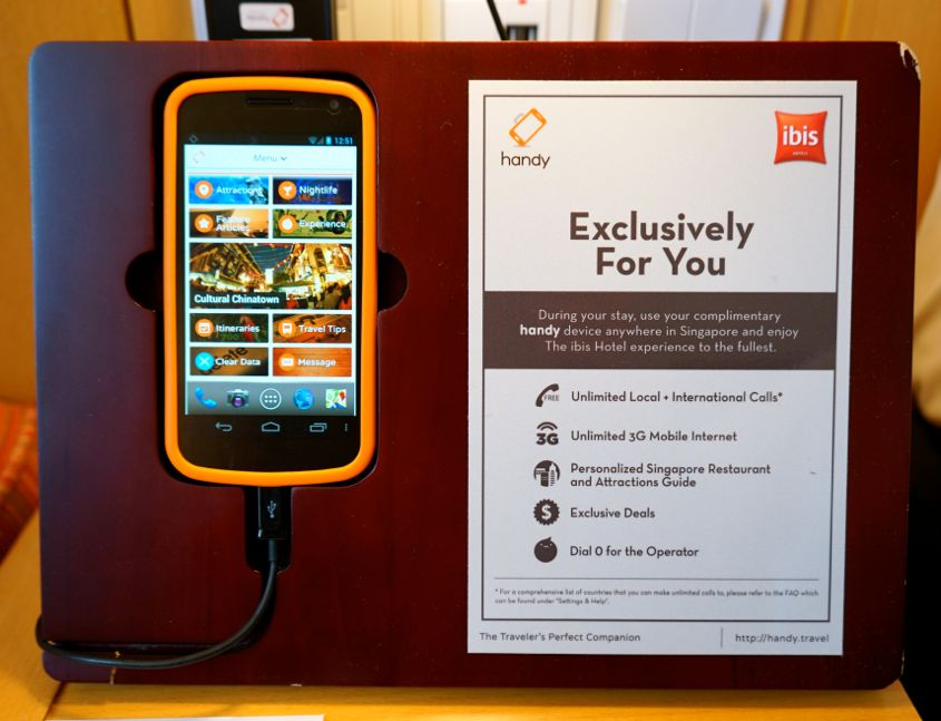 Handy Device For Guest At ibis Singapore On Bencoolen - AspirantSG