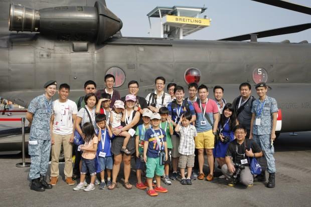 RSAF Air Show Media Group Photo - AspirantSG