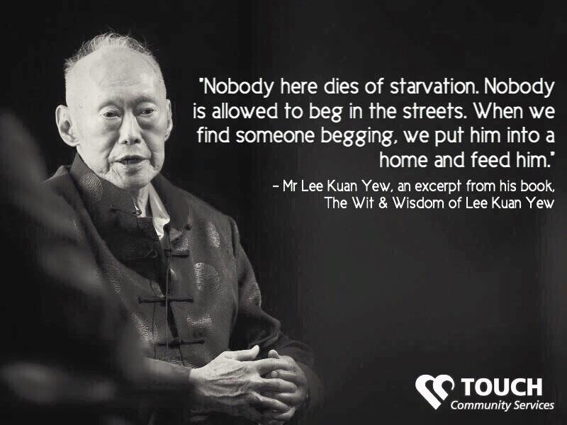 Mr Lee Kuan Yew promise nobody in Singapore dies of starvation - AspirantSG
