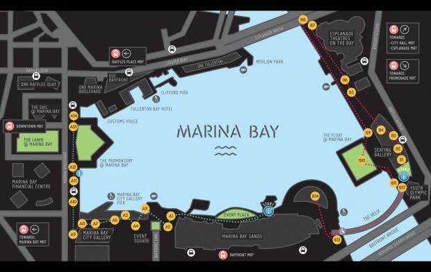 iLight Marina Bay 2014 Festival Map