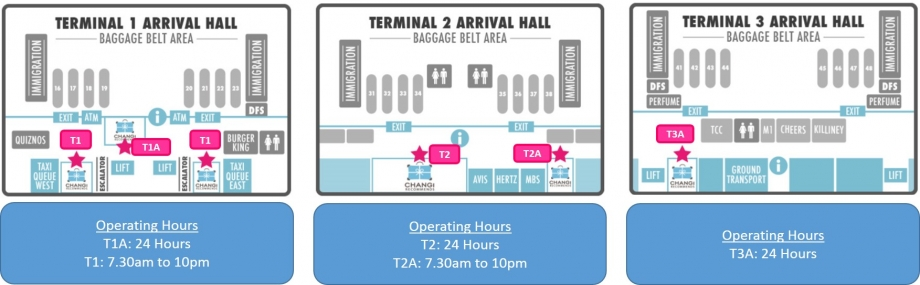 Changi Recommends At All 3 Airport Terminals Arrival Hall - AspirantSG