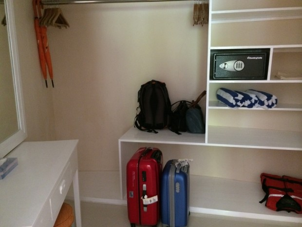 Vilu Reef Resort Closet Space - AspirantSG