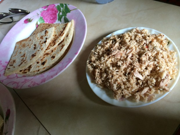 Roshi with Mashuni at a local eatery in Male city - AspirantSG