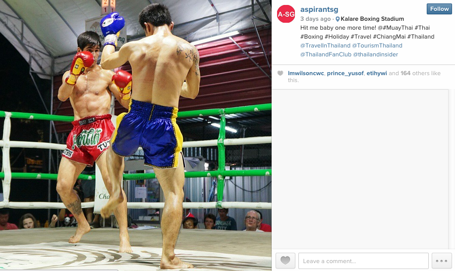 Chiang Mai Thai Boxing Match Share Using Changi Recommends Wifi Router - AspirantSG