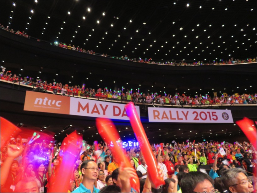 5000 Strong Crowd At NTUC May Day Rally 2015
