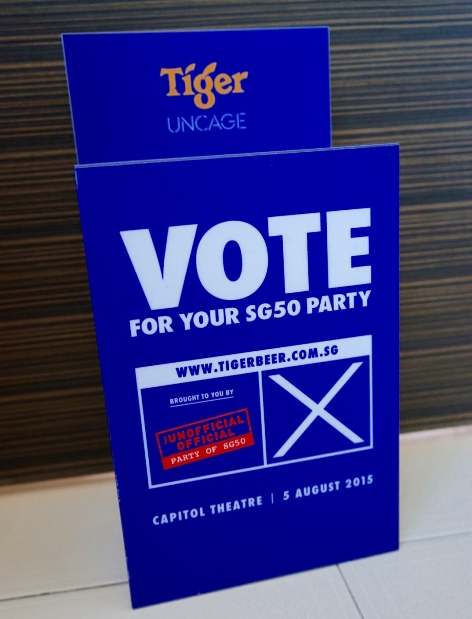 Vote For Tiger Beer's Official Unofficial Party For SG50 - AspirantSG