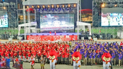 National Day Parade Celebrations At The Float 2015 Singapore