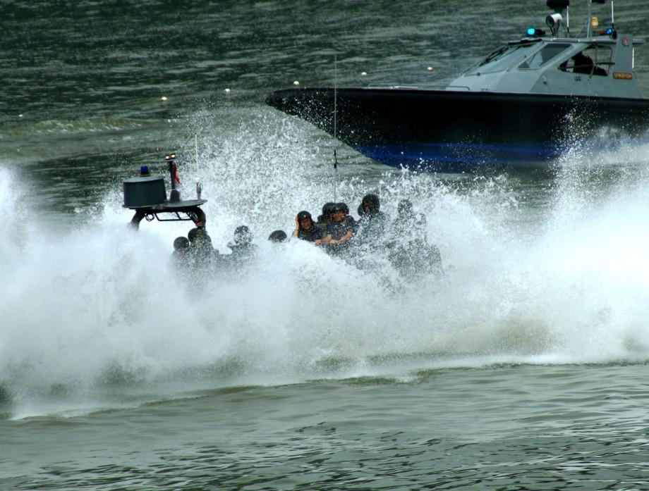 Splashing Halt By RHIBs NDP 2014 - AspirantSG