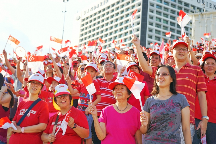 Spectators, Celebrations At The Float - AspirantSG