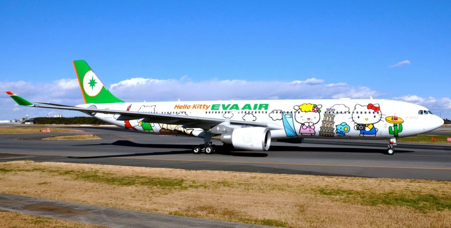 EVA Air Hello Kitty Global Jet - AspirantSG