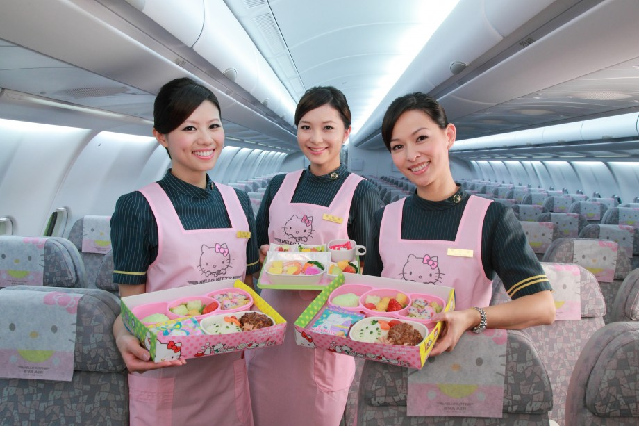 EVA Air Hello Kitty Crew & Board Meals - AspirantSG