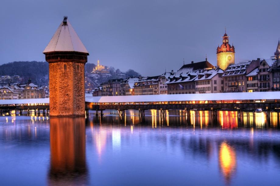 Lucerne skyline in winter, Switzerland - AspirantSG
