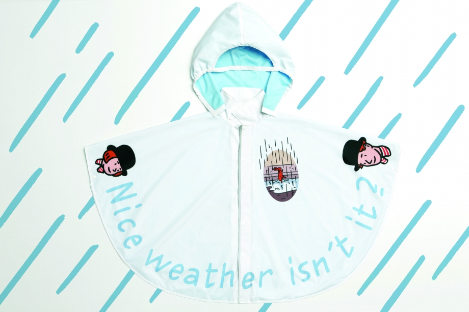 Raincoat Front With Raindrops - AspirantSG