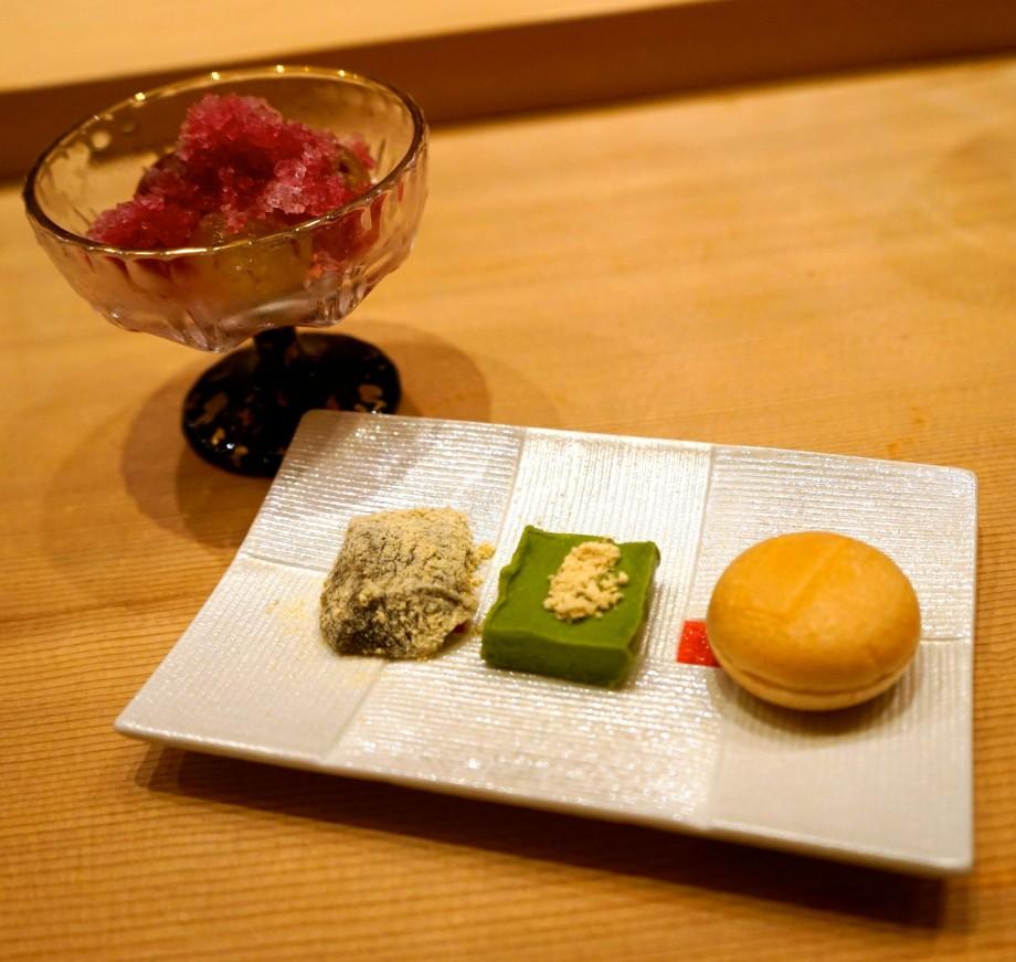 Kyoho Grapes, Hojicha Monaka Warabimochi and Matcha Chocolate - AspirantSG