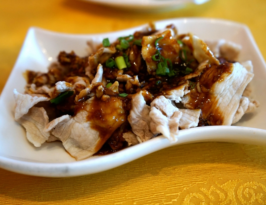 Szechuan Sliced Pork Belly with Garlic Sauce - AspirantSG