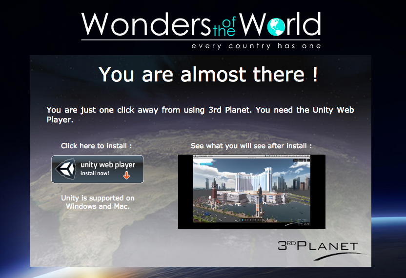 Download Unity Web Player For 3rd Planet - AspirantSG
