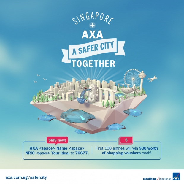 AXA A Safer City Campaign 2015 - AspirantSG