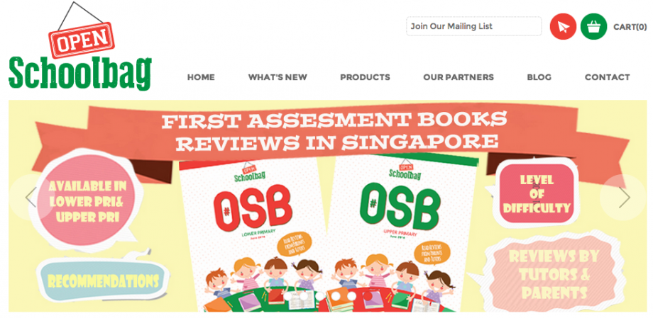 Open School Bag Website - AspirantSG