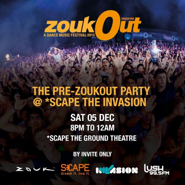 Pre-ZoukOut Party @ *Scape The Invasion - AspirantSG