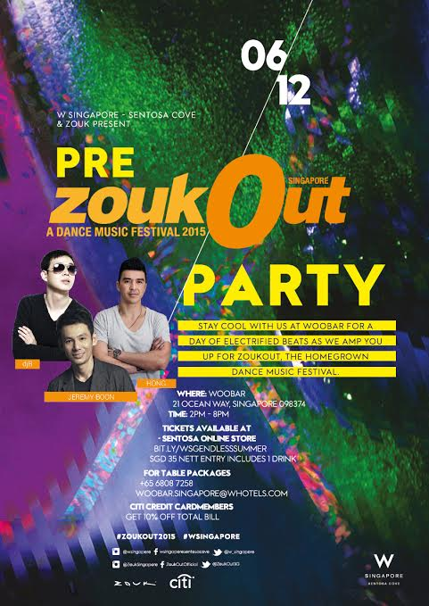 ZoukOut Pre-Party At WOOBAR W Singapore - Sentosa Cove - AspirantSG