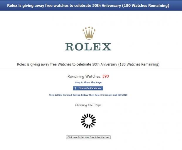 Rolex Scam - AspirantSG
