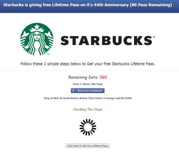 Starbucks Scam - AspirantSG