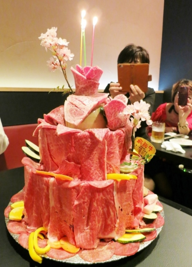 Birthday Meat Cakes In Japan - AspirantSG