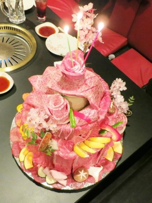 Celebrate Your Next Birthday With A Meat Cake Like The Japanese