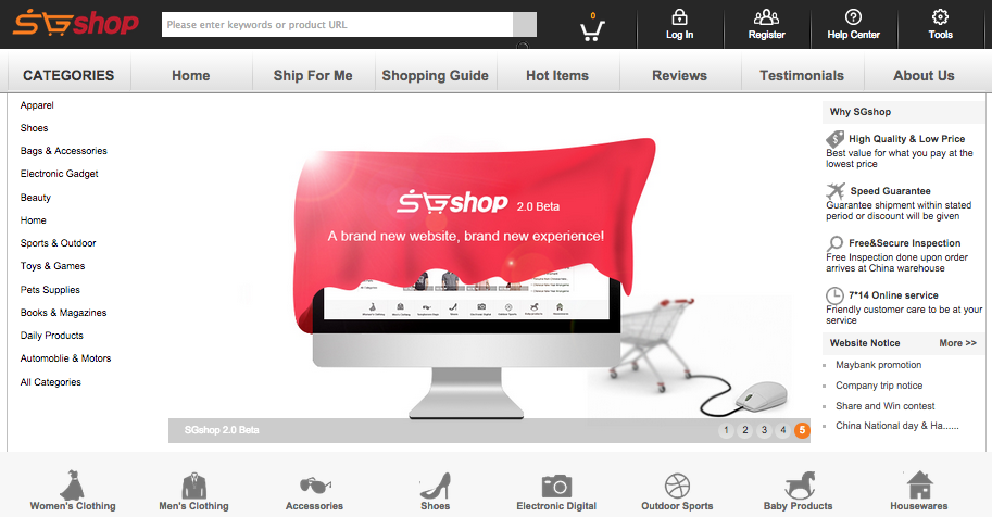 SGshop Taobao Shopping Website Singapore - AspirantSG