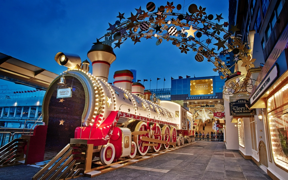 Christmas Train Station At Harbour City Hong Kong - AspirantSG