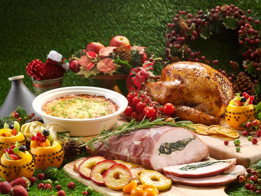 Festive Roast Meats Orange Maple Christmas Turkey and Stuffed Turkey Breast - AspirantSG