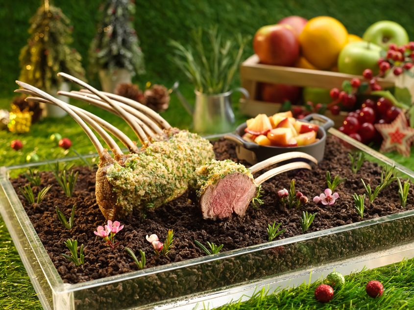 Indulge at Park Oreo and Macadamia Nut Crust Coated Rack of Lamb - AspirantSG